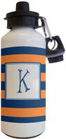 Kelly Hughes Designs - Water Bottles (Stripe Navy - Orange)