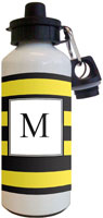 Kelly Hughes Designs - Water Bottles (Stripe Black - Yellow)