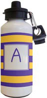 Kelly Hughes Designs - Water Bottles (Stripe Purple - Gold)