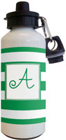 Kelly Hughes Designs - Water Bottles (Stripe Green - White)