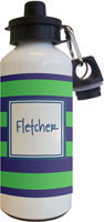Kelly Hughes Designs - Water Bottles (Stripe Blue - Green)