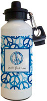 Kelly Hughes Designs - Water Bottles (Peace Out Blue)