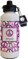 Kelly Hughes Designs - Water Bottles (Peace Out Purple)