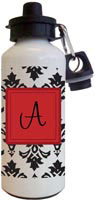 Kelly Hughes Designs - Water Bottles (Black Damask)