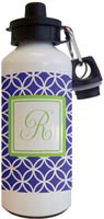 Kelly Hughes Designs - Water Bottles (Navy Clover)