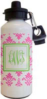 Kelly Hughes Designs - Water Bottles (Pink Damask)