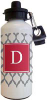 Kelly Hughes Designs - Water Bottles (Grey Lattice)
