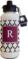 Kelly Hughes Designs - Water Bottles (Bordeaux Lattice)