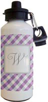 Kelly Hughes Designs - Water Bottles (Purple Gingham)