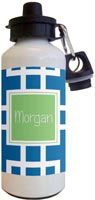 Kelly Hughes Designs - Water Bottles (Squared Blue)