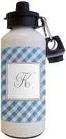 Kelly Hughes Designs - Water Bottles (Blue Gingham)