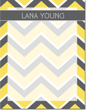 Devora Designs - Dry Erase Memo Boards (Chevron - Grey-Lemon) Chevron - Grey-Lemon