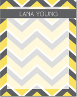 Devora Designs - Dry Erase Memo Boards (Chevron - Grey-Lemon)