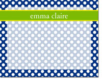 Devora Designs - Dry Erase Memo Boards (Dots - Blue-Grass)