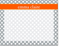 Devora Designs - Dry Erase Memo Boards (Dots - Grey Carrot)