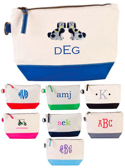 Donovan Designs - Embroidered Cosmetic Bags