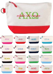 Donovan Designs - Embroidered Sorority Cosmetic Bags