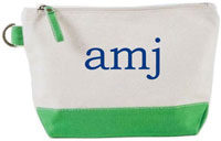 Donovan Designs - Embroidered Cosmetic Bags (Kelly Green Stripe)