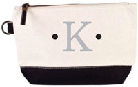 Donovan Designs - Embroidered Cosmetic Bags (Black Stripe)
