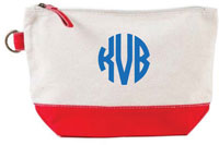 Donovan Designs - Embroidered Cosmetic Bags (Red Stripe)