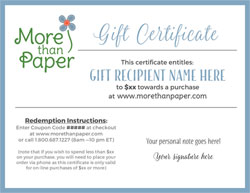 More Than Paper - Gift Certificate