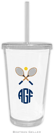 Boatman Geller - Create-Your-Own Personalized Beverage Tumblers (Crossed Racquets)