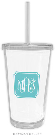 Boatman Geller - Create-Your-Own Personalized Beverage Tumblers (Solid Inset Round Corners Preset)