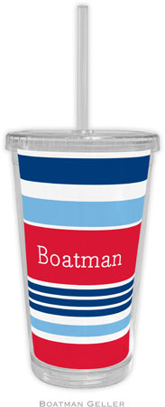 Boatman Geller - Personalized Beverage Tumblers (Espadrille Nautical)