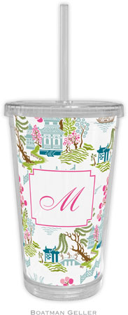 Boatman Geller - Personalized Beverage Tumblers (Chinoiserie Spring)
