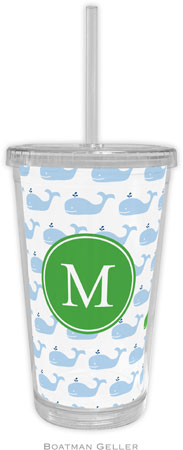 Boatman Geller - Personalized Beverage Tumblers (Whale Repeat Preset)