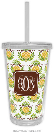 Boatman Geller - Personalized Beverage Tumblers (Pineapple Repeat Preset)
