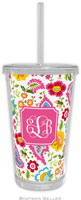 Boatman Geller - Personalized Beverage Tumblers (Bright Floral Preset)