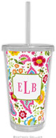 Boatman Geller - Personalized Beverage Tumblers (Bright Floral)