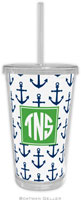 Boatman Geller - Personalized Beverage Tumblers (Anchors Navy Preset)