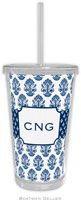 Boatman Geller - Personalized Beverage Tumblers (Beti Navy)
