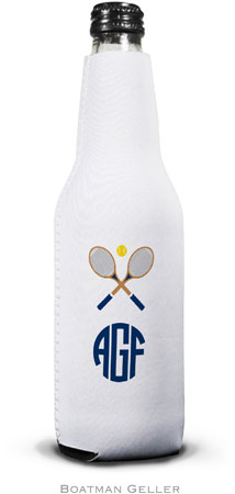 Boatman Geller - Create-Your-Own Personalized Bottle Koozies (Crossed Racquets)