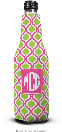 Boatman Geller - Personalized Bottle Koozies (Kate Raspberry & Lime Preset)
