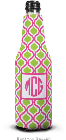 Boatman Geller - Personalized Bottle Koozies (Kate Raspberry & Lime)