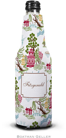 Boatman Geller - Personalized Bottle Koozies (Chinoiserie Autumn)