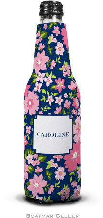 Boatman Geller - Personalized Bottle Koozies (Caroline Floral Pink)