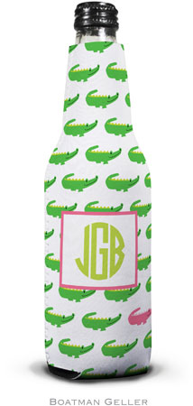 Boatman Geller - Personalized Bottle Koozies (Alligator Repeat)