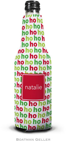 Boatman Geller - Personalized Bottle Koozies (Ho Ho Ho Preset)