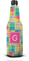 Boatman Geller - Personalized Bottle Koozies (Madras Patch Bright Preset)