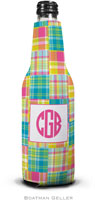Boatman Geller - Personalized Bottle Koozies (Madras Patch Bright)