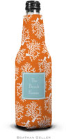 Boatman Geller - Personalized Bottle Koozies (Coral Repeat Preset)