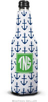 Boatman Geller - Personalized Bottle Koozies (Anchors Navy Preset)
