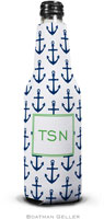 Boatman Geller - Personalized Bottle Koozies (Anchors Navy)