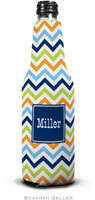 Boatman Geller - Personalized Bottle Koozies (Chevron Blue Orange & Lime Preset)