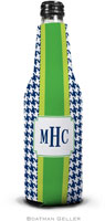 Boatman Geller - Personalized Bottle Koozies (Alex Houndstooth Navy)