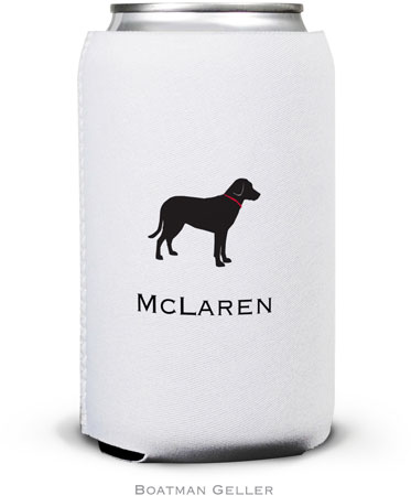 Boatman Geller - Create-Your-Own Personalized Can Koozies (Lab Black)